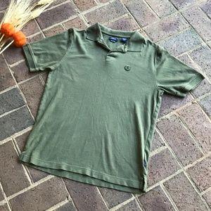 Men's Izod Silkwash Olive Green Polo